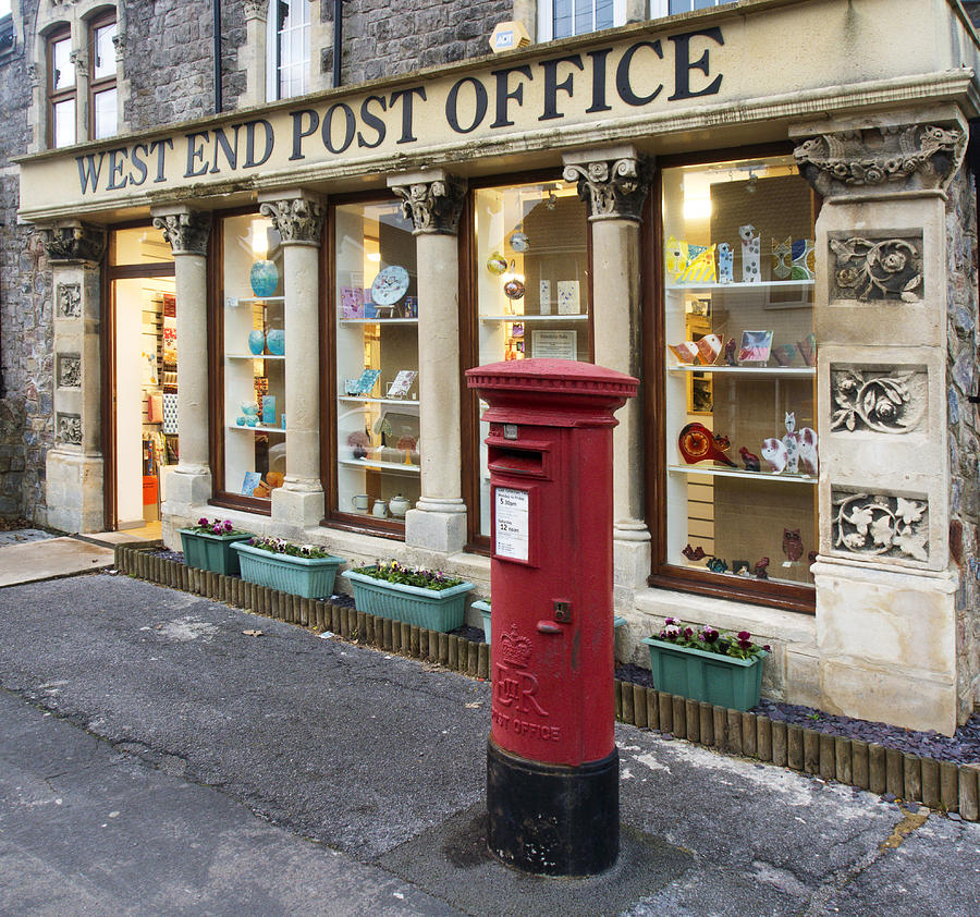 Post Office Photograph - Clevedon West End Post Office by Rachel Down