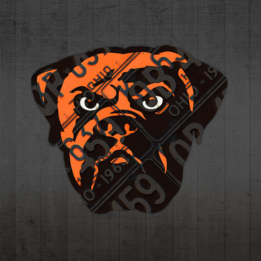 Cleveland Browns Football Team Retro Logo Ohio License