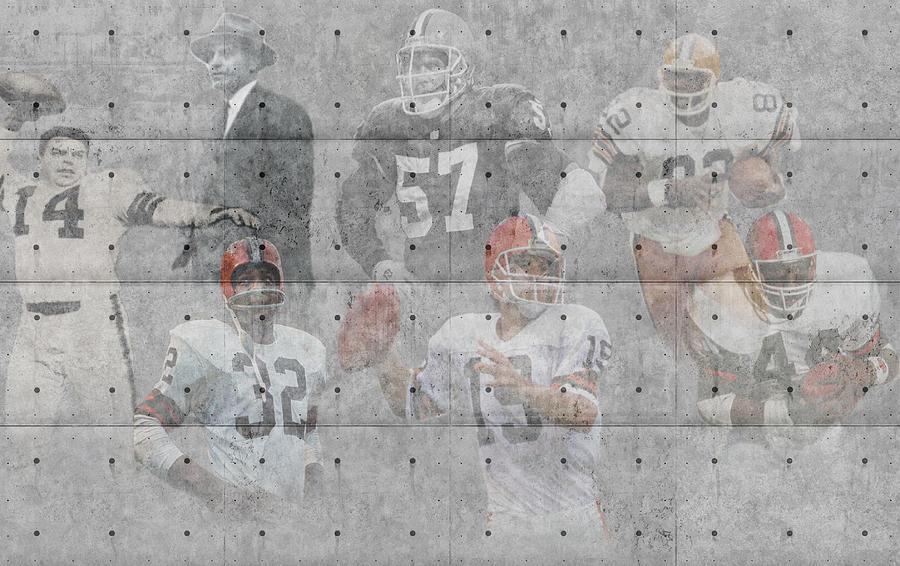 Browns Photograph - Cleveland Browns Legends by Joe Hamilton