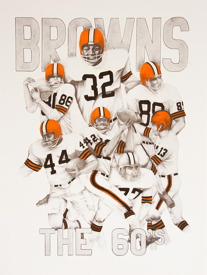 Cleveland Browns - The 60\'s Drawing by Joe Lisowski