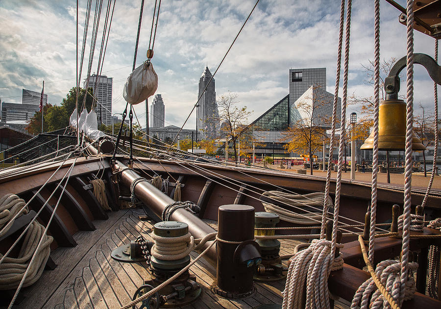 Cleveland Ohio Photograph - Cleveland From The Deck Of The Peacemaker by Dale Kincaid