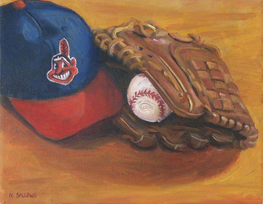 Cleveland Indians Painting - Cleveland Rocks by Nora Sallows
