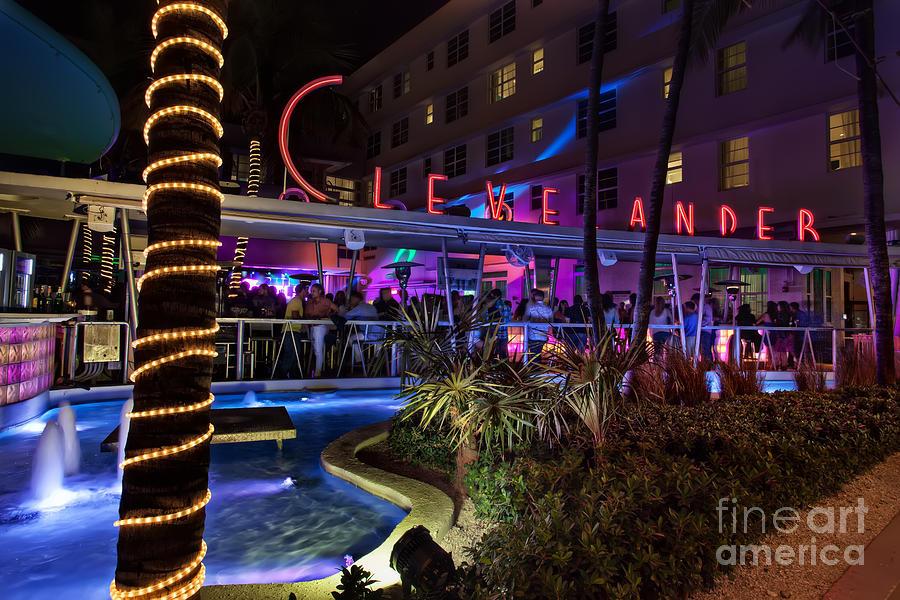 Florida Photograph - Clevelander South Beach by Anthony Festa