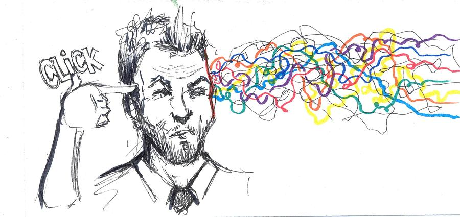 Click Open Your Mind Drawing By Kevin Ball