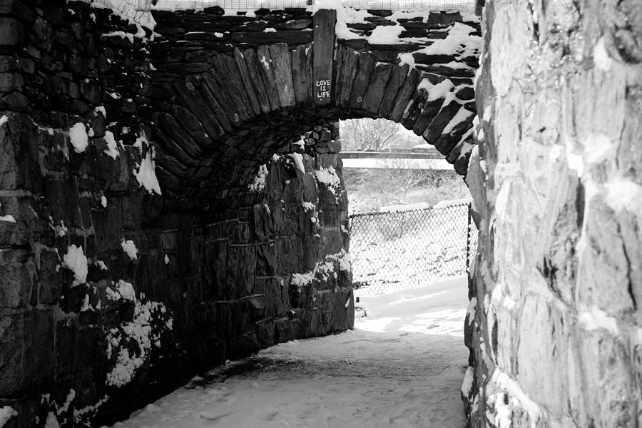 Cliff Walk Photograph - Cliff Walk Arch  by Allan Millora