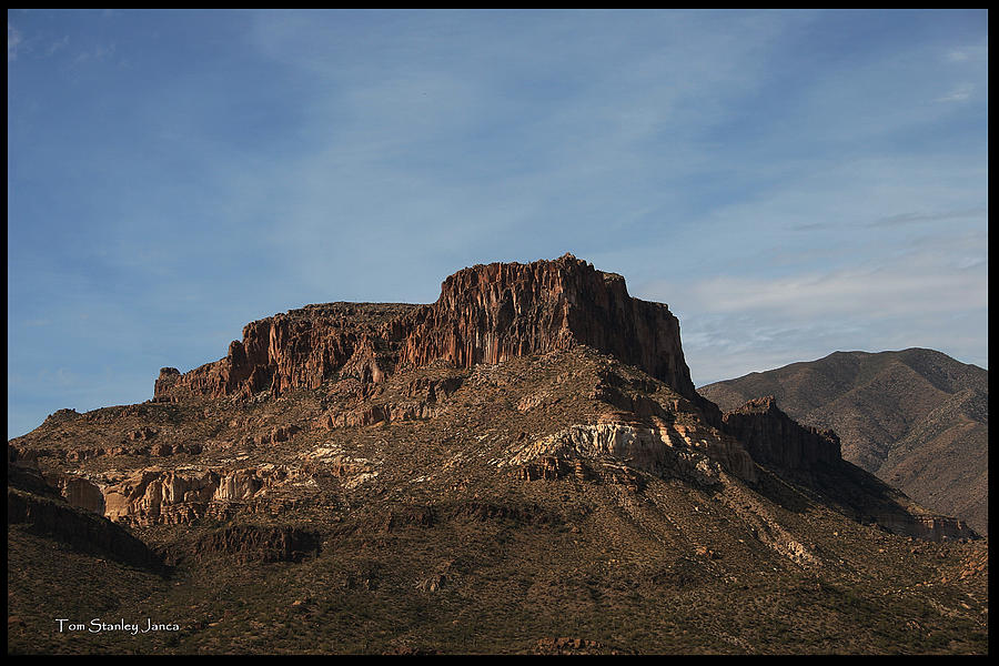 Tonto National Forest Photograph - Cliffs Above Apache Lake by Tom Janca