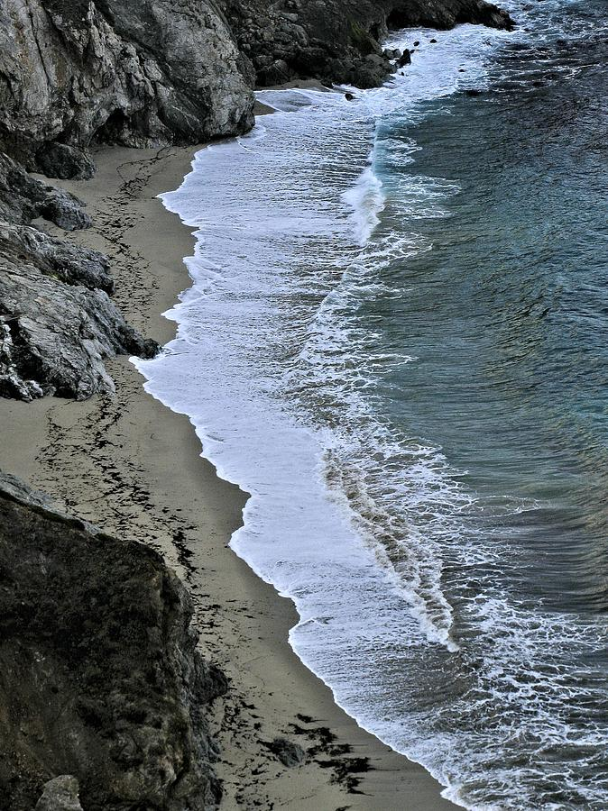 Ocean Photograph - Cliffs And Surf Big Sur Coast by Elery Oxford
