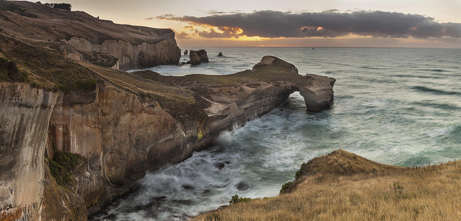 Cliffs And Tunnel Beach Otago New Photograph by Colin Monteath