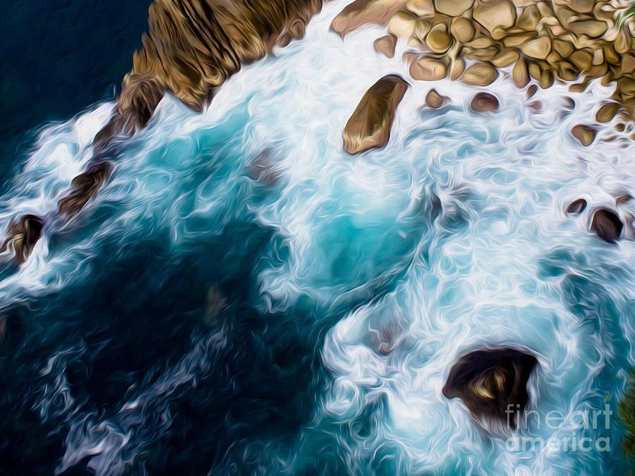 Mexico Digital Art - Cliffs In Acapulco Mexico II by Kenneth Montgomery