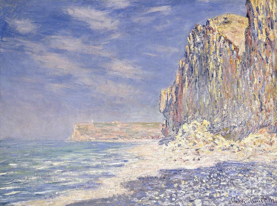 Monet Painting - Cliffs Near Fecamp by Claude Monet