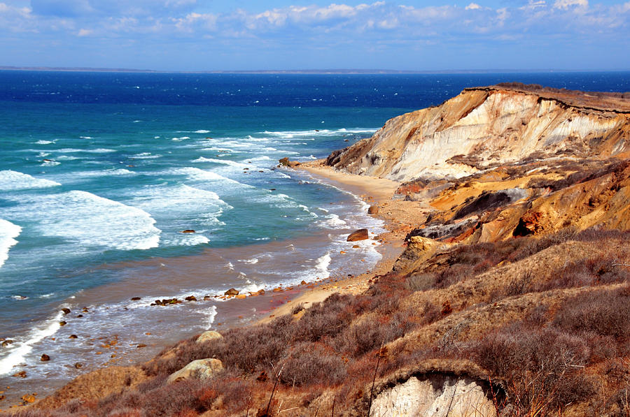 Ocean Photograph - Cliffs Of Aquinnah by David Champigny