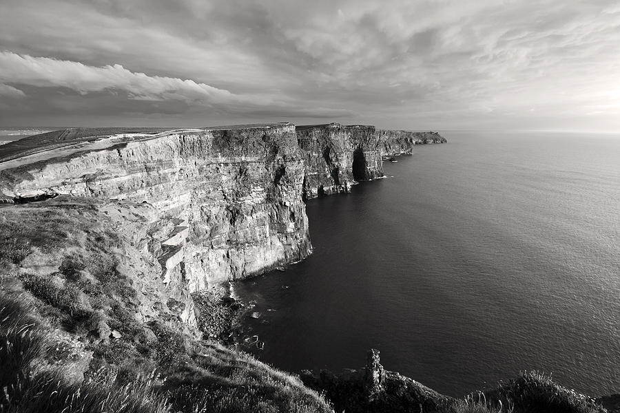 99ce51b82a81 Cliffs Of Moher Ireland In Black And White Photograph by Pierre ...