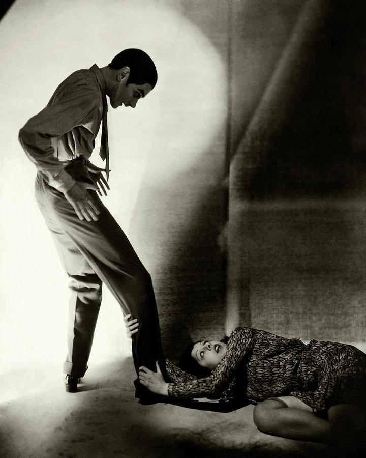 Clifton Webb And Libby Holman Photograph by George Hoyningen-Huene