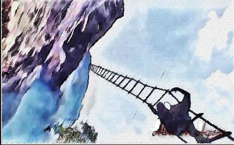 Stairway To Heaven Painting - Climb by Withintensity  Touch