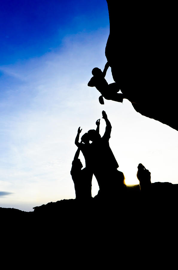 Acrobatic Photograph - Climber Silhouette 3 by Chase Taylor