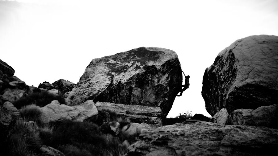 Acrobatic Photograph - Climber Silhouette 4 by Chase Taylor