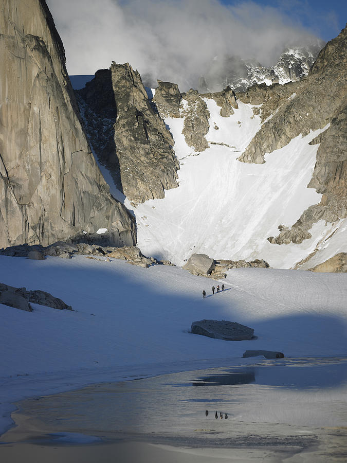 Beauty Photograph - Climbers Enroute To The Bugaboo Snowpatch Col by Richard Berry