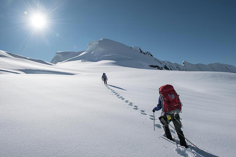 Women Photograph - Climbers Nearing The Summit by Alasdair Turner