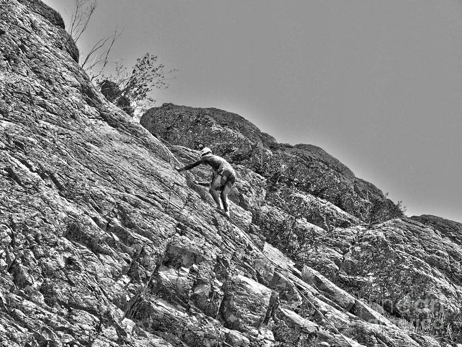 Rock Climbing Digital Art - Climbing by Christian Jansen