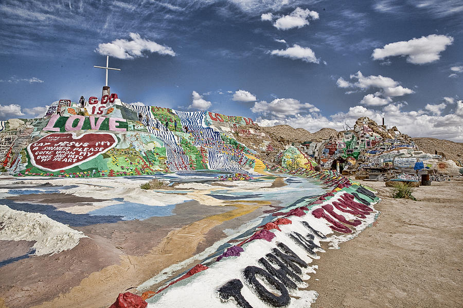 Salvation Mountain Photograph - Climbing Salvation Mountain by Hugh Smith