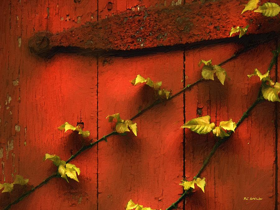 Leaves Painting - Clinging Vines by RC DeWinter