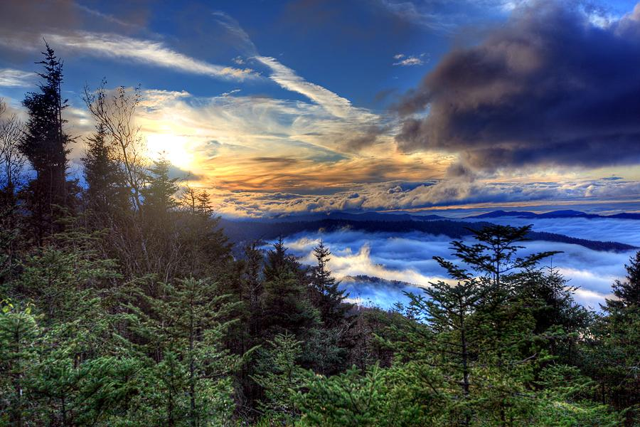 Nature Photograph - Clingmans Dome Sunset by Doug McPherson