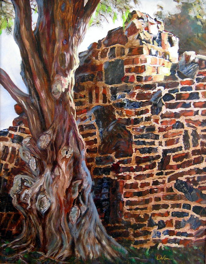 Wall Painting - Clinker Wall by LaVonne Hand