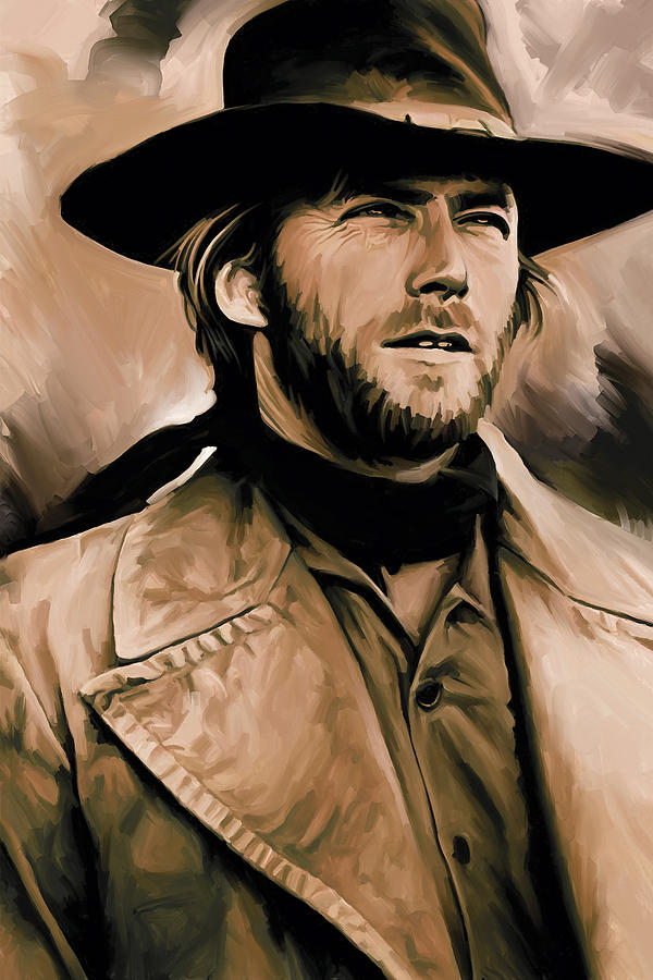 Clint Eastwood Artwork Painting By Sheraz A