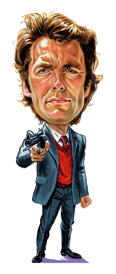 Dirty Harry Painting - Clint Eastwood As Harry Callahan by Art