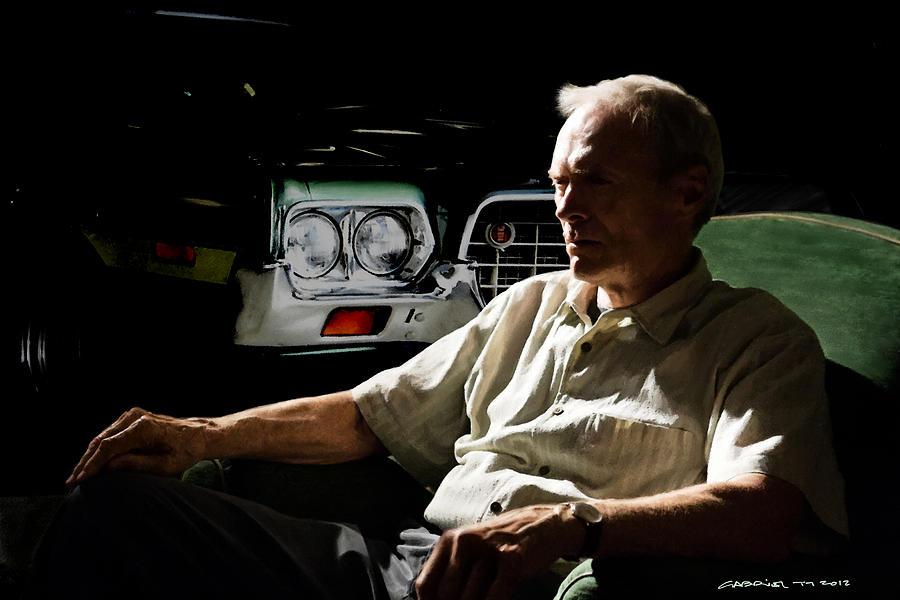 Clint Eastwood Digital Art - Clint Eastwood as Walt Kowalski in the film Grand Torino - Clint Eastwood - 2008 by Gabriel T Toro