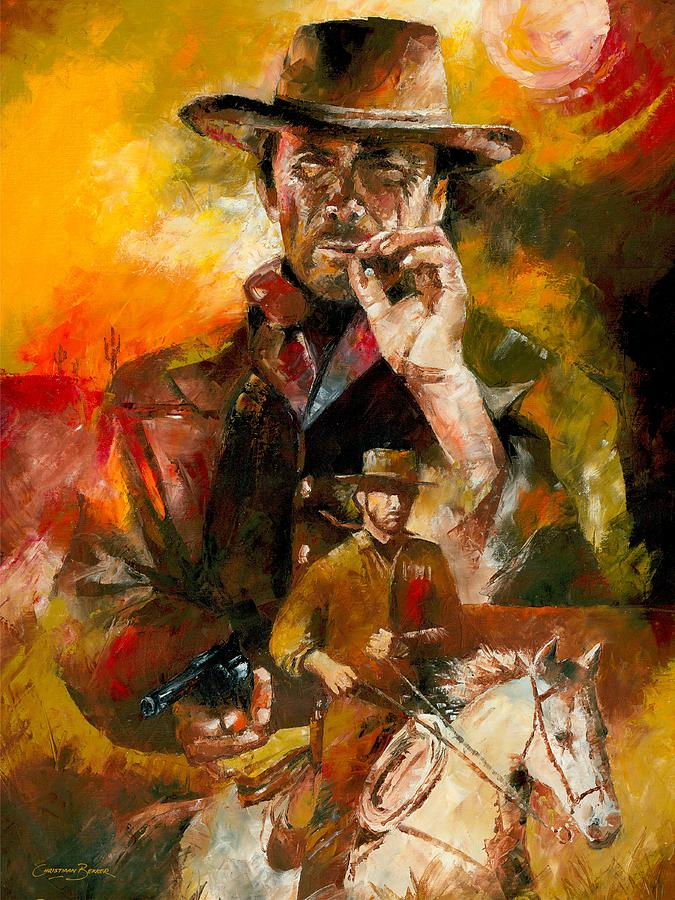 Clint Eastwood Painting by Christiaan Bekker