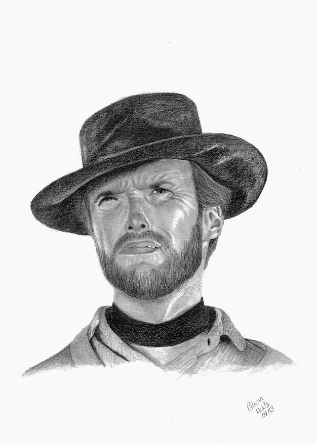 Clint Eastwood Drawing - Clint Eastwood by Patricia Hiltz