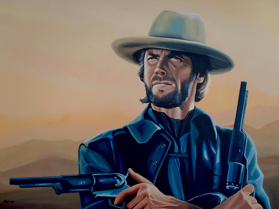 Clint Eastwood Painting - Clint Eastwood Painting by Paul Meijering