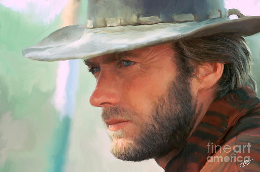 clint eastwood painting by paul tagliamonte