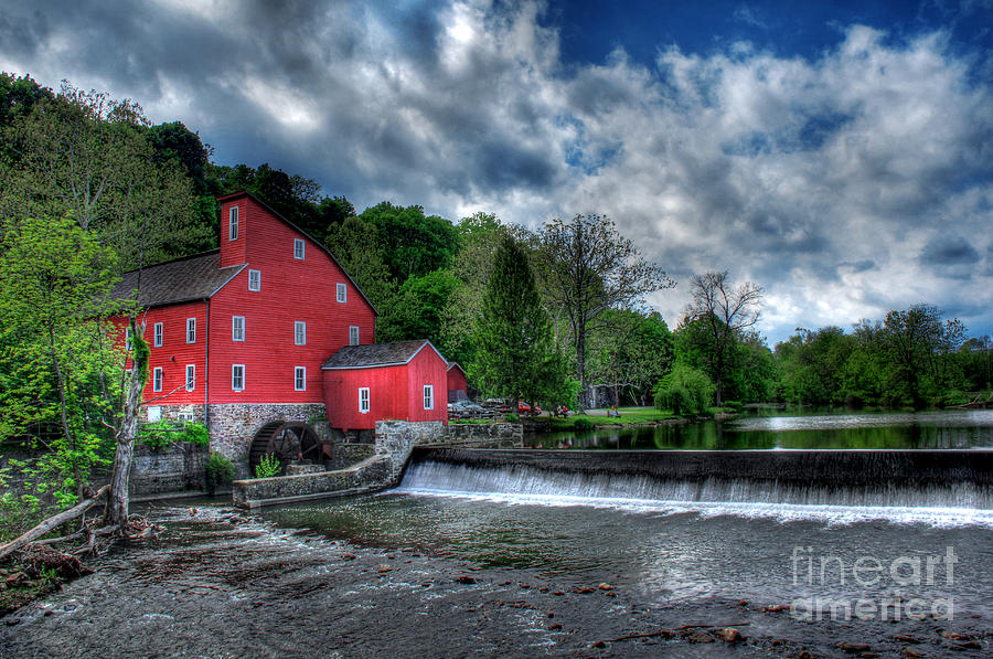 Countryside Photograph - Clinton Red Mill House by Lee Dos Santos