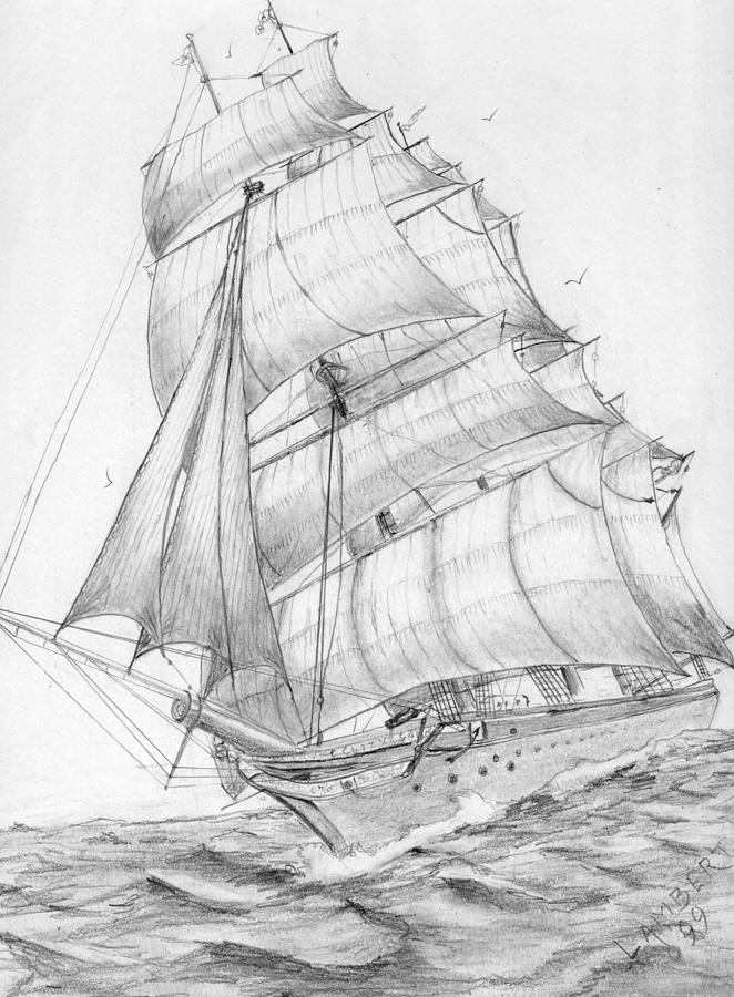 Clipper Cutty Sark Drawing By George Lambert