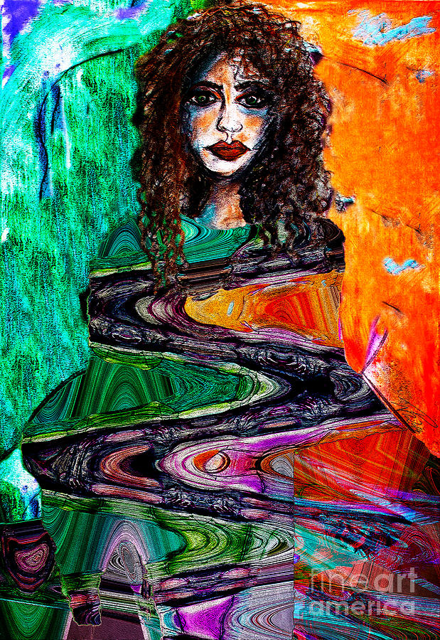 Woman Painting - Cloaked In Klimt by Nicole Philippi