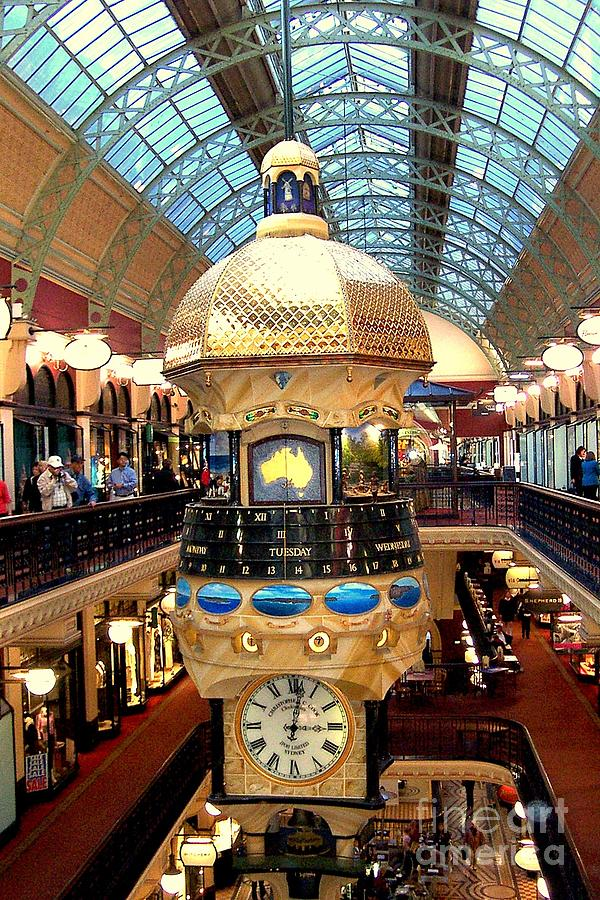 Sydney Photograph - Clock In Sydney Mall by John Potts