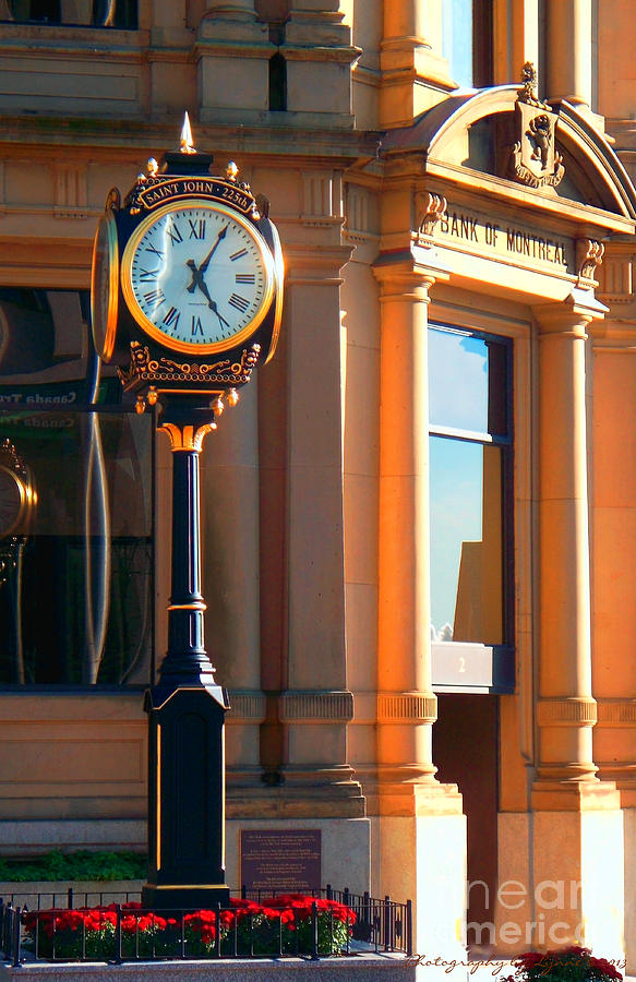 Montreal Photograph - Clock Of New Brunswick by Gena Weiser