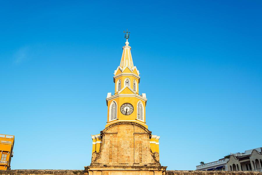 Clock Tower Of Cartagena Photograph