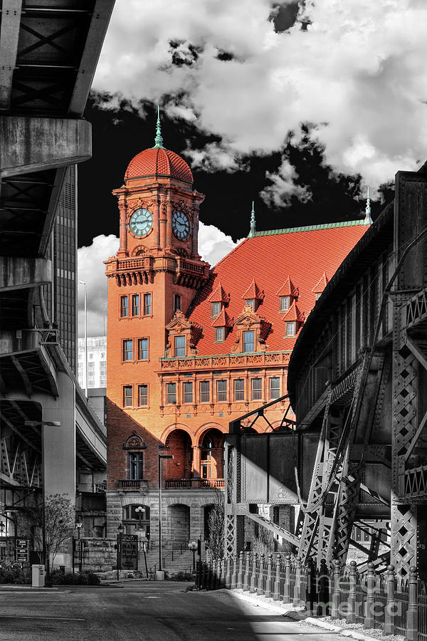 Main Street Station Photograph - Clock Tower by Tim Wilson