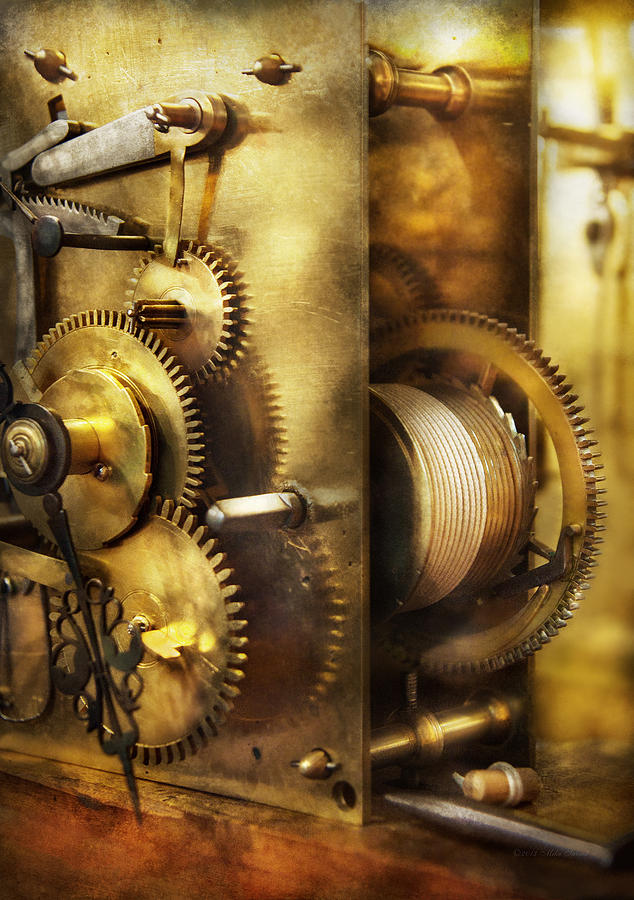Clockmaker Photograph - Clockmaker - We All Mesh by Mike Savad