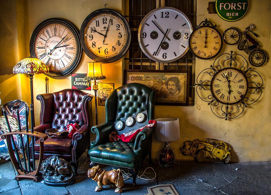 Clocks Photograph - Clocks In A Mess by Luca Lorenzelli