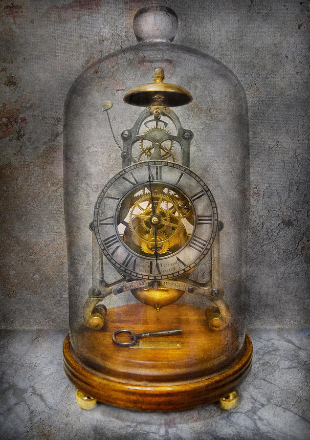 Clockmaker Photograph - Clocksmith - The Time Capsule by Mike Savad