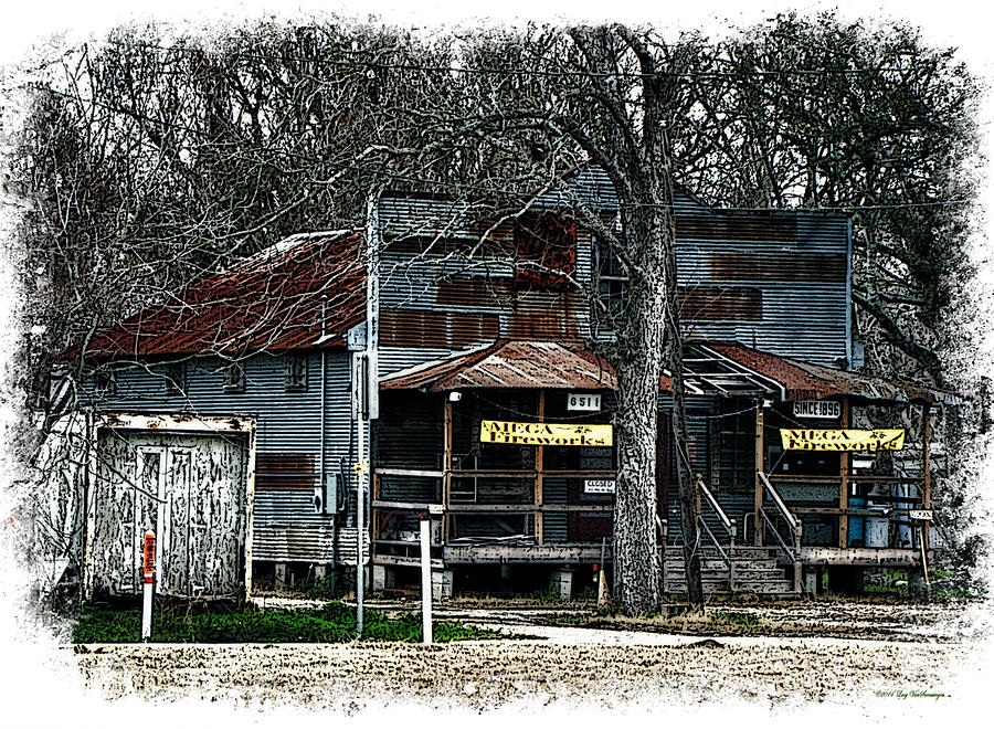 Town Photograph - Clodine Post Office by Lucy VanSwearingen