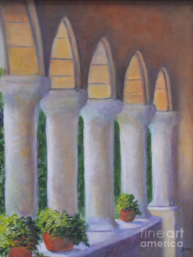 Cloisters Painting - Cloisters New York by Jana Baker