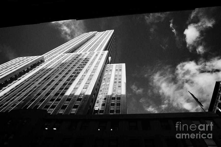 Usa Photograph - Close In Shot Of The Empire State Building New York City by Joe Fox