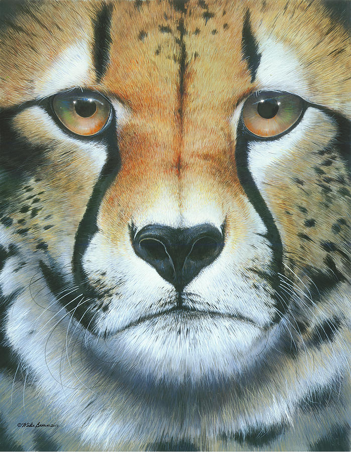 Cheetah Painting - Close To The Soul by Mike Brown