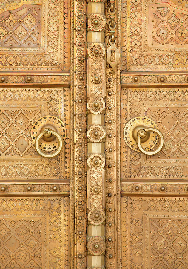 Close Up Indian Doorway Photograph by Grant Faint