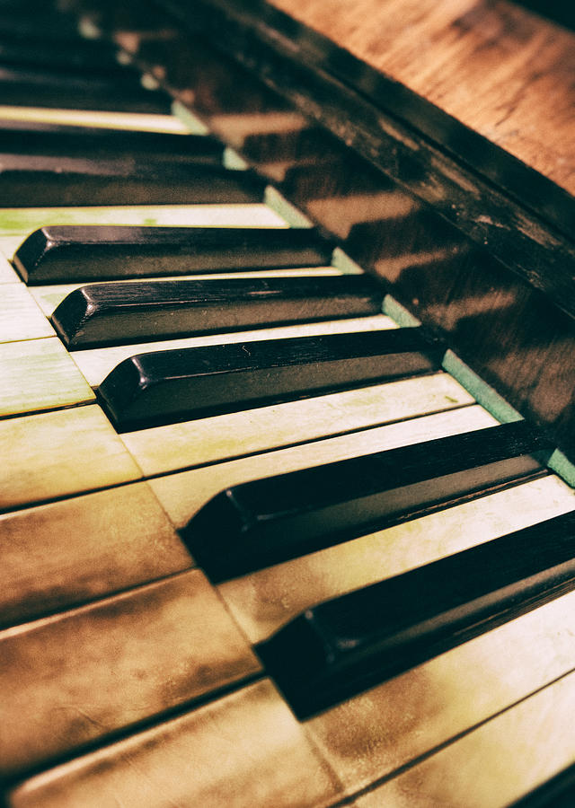 Piano Photograph - Close Up Of An Old Piano by Jaroslaw Blaminsky